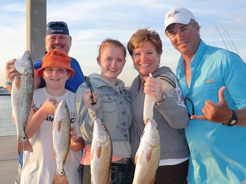 family picture fishing in navarre