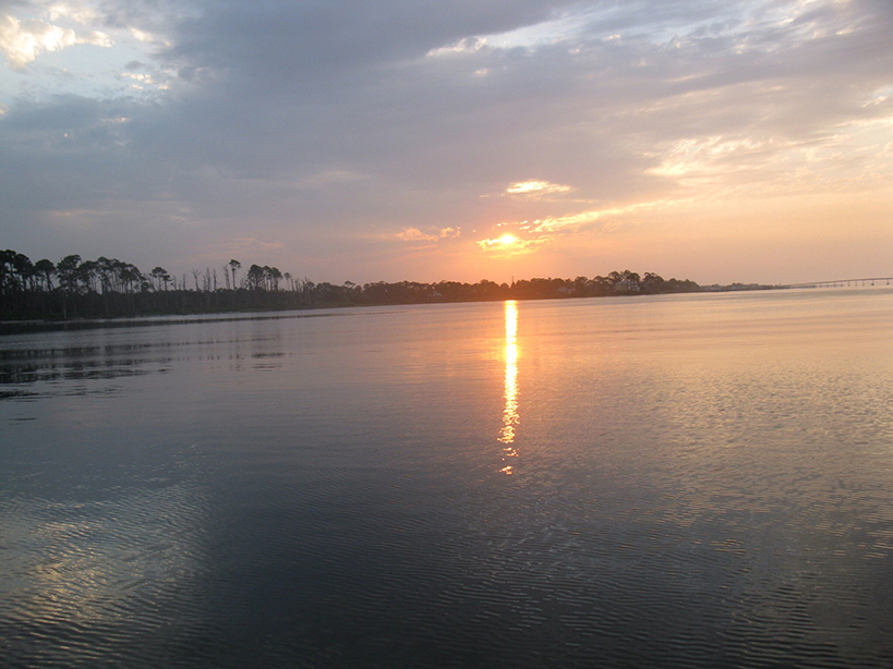 sunset in navarre