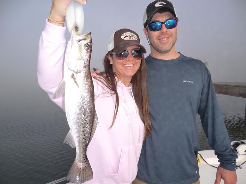 couples fishing