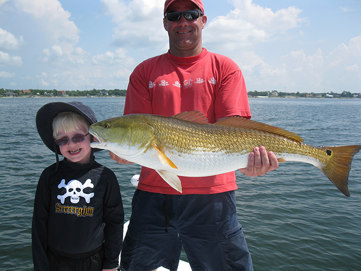 son and father fishing trips