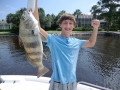 kids catching fish in navarre