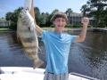 kids catching fish in navarre