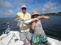 family fishing in navarre