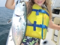 little girl catching fish in navarre