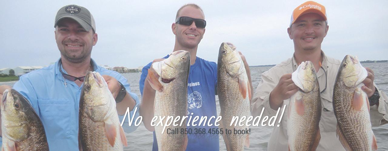 no experience fishing trips